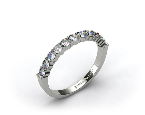 14k White Gold 0.50ct Common Prong Diamond Wedding Ring 